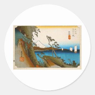 Japanische Landschaft Ukiyo-e Sticker