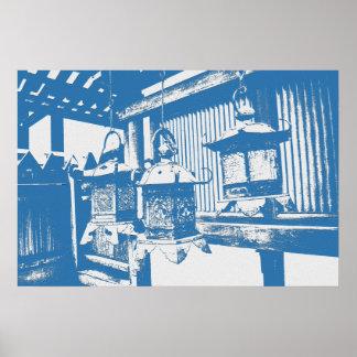 Japanische Laternen Poster