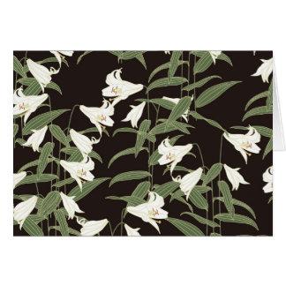 Japanische Lilie Karte