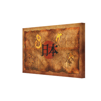 JAPANISCHE LITERATUR Antike-Ähnliches Kunst-Plakat Leinwanddruck