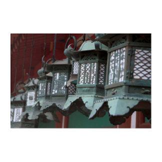 Japanische Metalllaternen Acryl Wandkunst