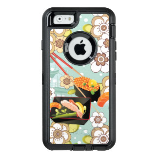 Japanische Nahrung: Sushi-Muster 4 OtterBox iPhone 6/6s Hülle
