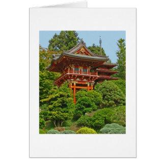 Japanische Pagoden-Foto-Malereikarte Grußkarte