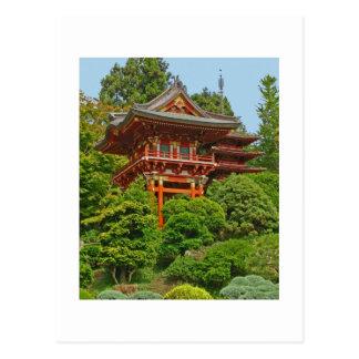 Japanische Pagodenfoto-Malereipostkarte