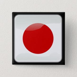 Japanische Polierflagge Quadratischer Button 5,1 Cm