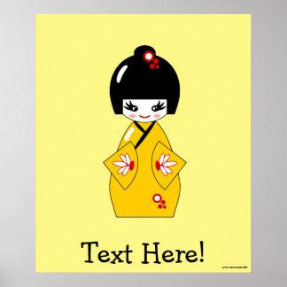 Japanische Puppe Poster