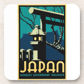 Japanische Regierungs-Eisenbahn-Vintage Weltreise Untersetzer
