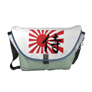 Japanische Samurai-aufgehende Sonne-Bote-Tasche Kuriertaschen