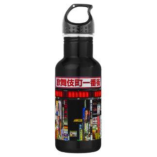 Japanische Straße nachts Trinkflasche
