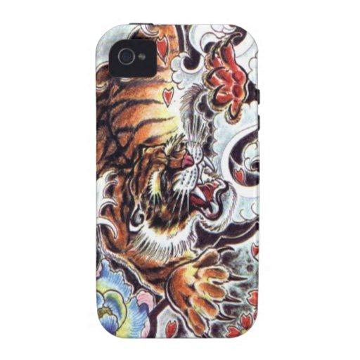 Japanische Tiger-Tätowierung Case-Mate iPhone 4 Hüllen