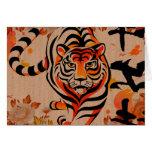 japanische Tigerkunst Grußkarte