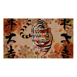 japanische Tigerkunst Visitenkarten