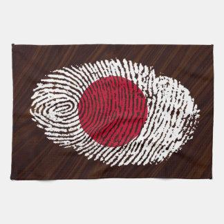 Japanische Touchfingerabdruckflagge Geschirrtuch