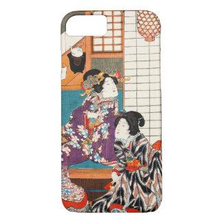 Japanische Vintage Schönheit Geisha-Damenfrau iPhone 8/7 Hülle