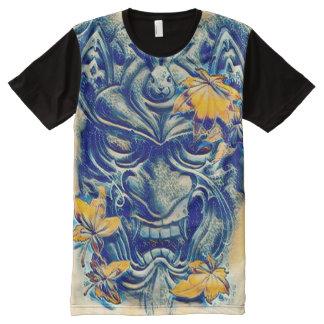 Japanische Wasser-Dämon-Fantasie-Kunst T-Shirt Mit Bedruckbarer Vorderseite
