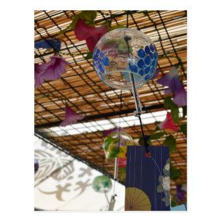 Japanische Wind-Glockenspiele (fuurin) Postkarte