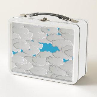 Japanische Wolken, Sommer-Tag, Weiß und Metall Lunch Box