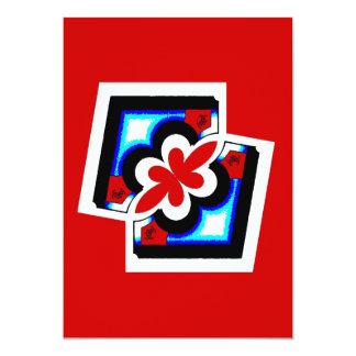 Japanischer abstrakter Druck 12,7 X 17,8 Cm Einladungskarte