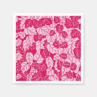 Japanischer Blatt-Druck, pinkfarben und hellrosa Serviette