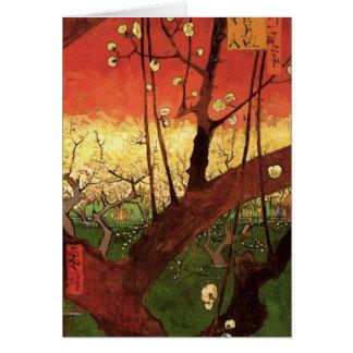 Japanischer blühender Pflaumen-Baum Van Gogh, Karte