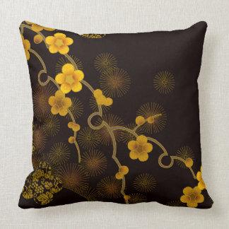 Japanischer Blumen-Entwurf Kissen