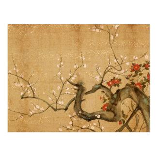 Japanischer Blumen-Garten Postkarte