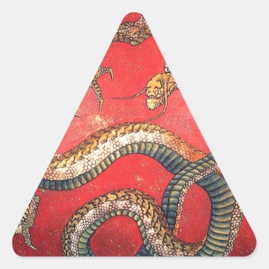 Japanischer Drache Dreieckiger Aufkleber