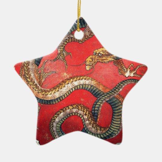 Japanischer Drache Keramik Stern-Ornament