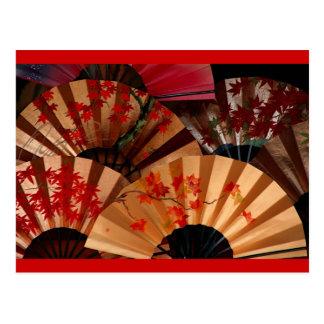 Japanischer Fan Postkarte