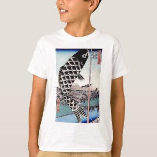Japanischer Fisch-Drachen-Karpfen-Druck T-Shirt