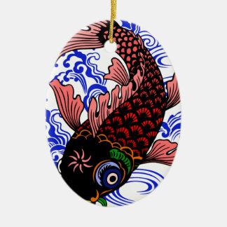 Japanischer Fisch Keramik Ornament