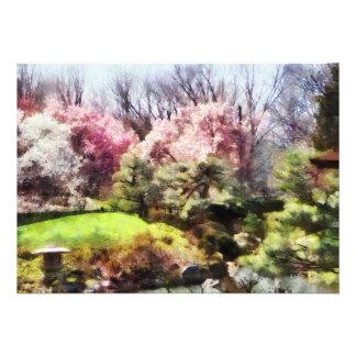 Japanischer Frühling Ankündigung