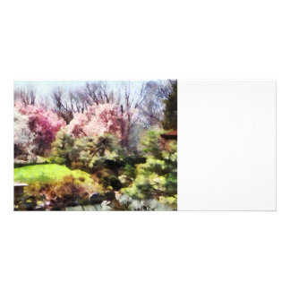 Japanischer Frühling Foto Karten Vorlage