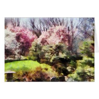 Japanischer Frühling Grußkarte