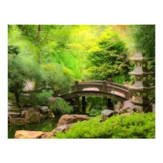 Japanischer Garten - Wasser unter der Brücke Flyer