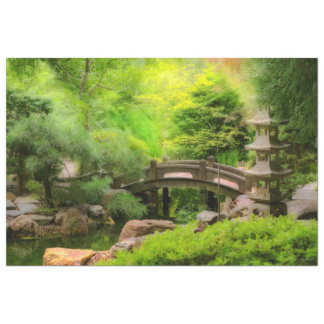 Japanischer Garten - Wasser unter der Brücke Seidenpapier
