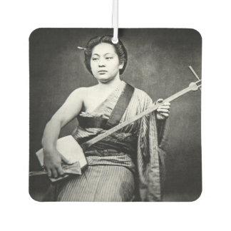 Japanischer Geisha, der Samisen Vintage Musik Autolufterfrischer