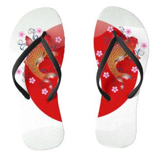 Japanischer glatter Flagge koi Karpfen Flip Flops