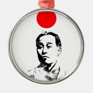 Japanischer Held Silbernes Ornament