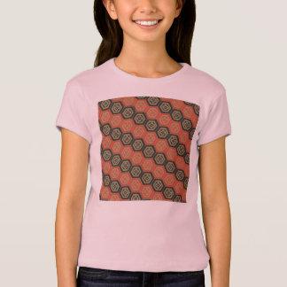Japanischer Hexagon-Muster-Mädchen-T - Shirt