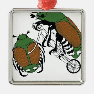 Japanischer Käfer-Reitfahrrad-japanischer Quadratisches Silberfarbenes Ornament