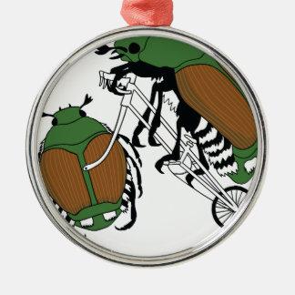 Japanischer Käfer-Reitfahrrad-japanischer Silbernes Ornament