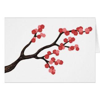 Japanischer Kirschblüten-Niederlassungsentwurf im Karte