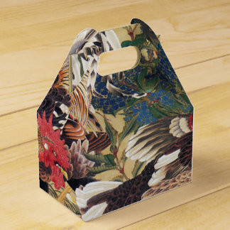 Japanischer Malerei Hahn-Bevorzugungs-Kasten Geschenkschachtel