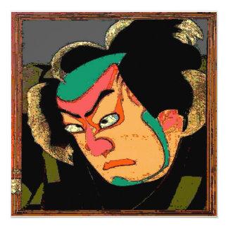 Japanischer Mann-Druck Quadratische 13,3 Cm Einladungskarte