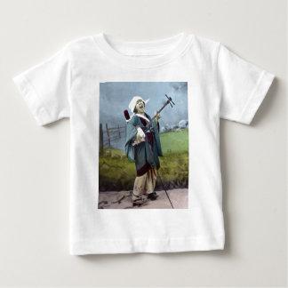 Japanischer Musiker Shamisen Vintage Banjo-Musik Baby T-shirt