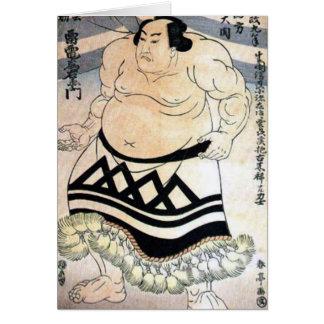 Japanischer Sumoringkämpfer Karte