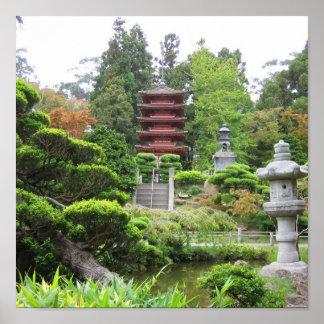 Japanischer Tee-Garten Poster
