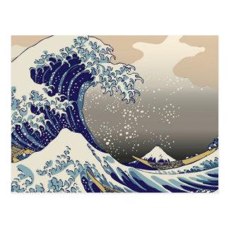 Japanischer Tsunami Postkarte