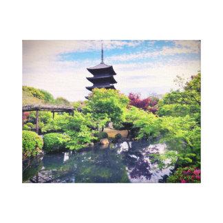 Japanischer Zen-Garten Gespannter Galeriedruck